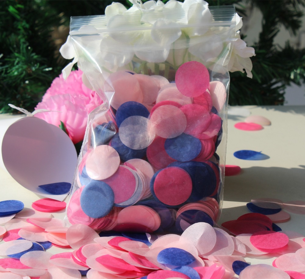 pink cerise hot pink royal blue wedding marriage party guests ...