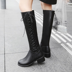 Image 5 - BLXQPYT 2018 New Big size 33 50 boots women Autumn Winter warm bottine femmes zapatos mujer shoes Knee  High woman 2012