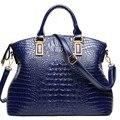 2017 bolso de Cuero de Moda señoras de Las Mujeres de Cocodrilo Bolso de Hombro Del Diseñador marca bolsos de Las Señoras ocasionales Bolsas bolsas femininas W15-95