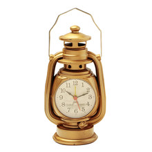 Europe Retro Alarm Clock Figurine Home Bedroom Headboard Kerosene Lamp Shape Plastic Alarm Clock Ornaments Classic Student Gifts(China)