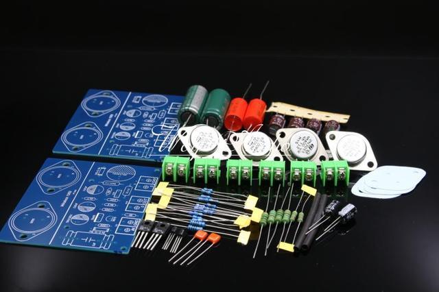 Simples classe a jlh 1969 kit amplificador de potência de dois canais st2n3055 placa amplificador kit diy
