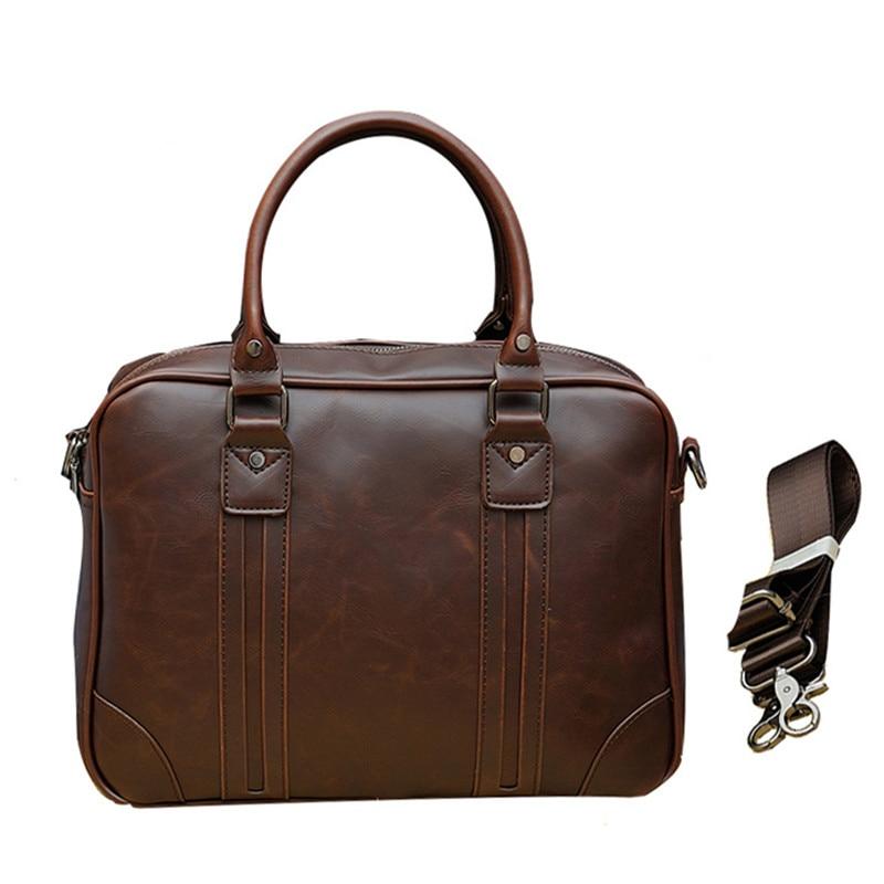 2019 Luxury Men Briefcase Male Designer Business Men's Handbags PU Leather Messenger Bag Office Vintage Shoulder Laptop Bag L164