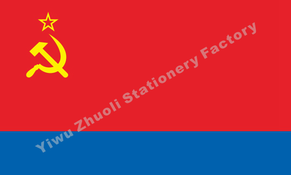 Azerbaijan SSR Flag 150X90cm (3x5FT) 120g 100D Polyester Double Stitched High Quality Banner Ensign Free Shipping