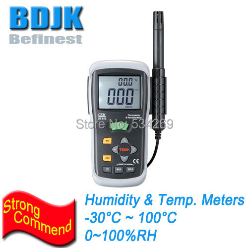 New Portable Digital Hygrometer and Thermometer with Dew Point & Wet Bulb Temperature Display Meters / Tester az8760 digital dry hygrometer greenhouse dry bulb thermometer and humidity figures temperature tester instrumentation