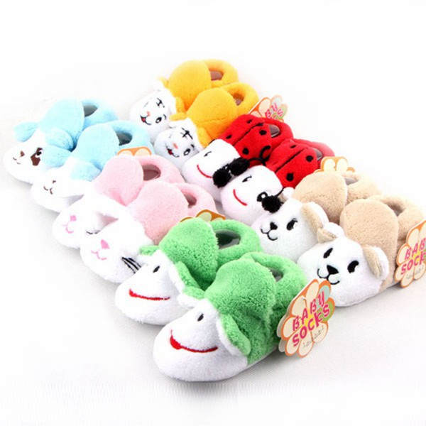 Multi-Pattern Baby Boy Girl Toddler Shoes Animal Shape Soft Sole Warm Crib Shoes ...