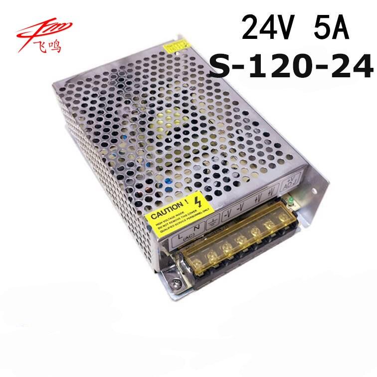 120W 24V 5A switching power supply 5v led driver 110V/ 220v to 24v converter smps for amplifier ac dc transformer S-120-24 ac 85v 265v to 20 38v 600ma power supply driver adapter for led light lamp