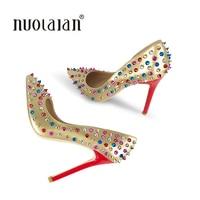 Brand Shoes Woman High Heels Women Shoes Pumps Stilettos Shoes For Women Gold High Heels 12CM