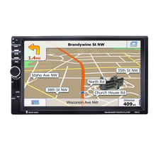 7021G 7 Inch Touch screen, car GPS navigator, car MP5 player, Bluetooth hands-free video player Vehicle GPS Units Equipment 7 inch truck car gps navigation navigator win ce 6 0 touch screen e book video audio game player with free maps 706