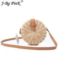 Summer New Women Straw Bag Bohemian Bali Rattan Beach Handbag Small Circle Lady Vintage Crossbody Handmade