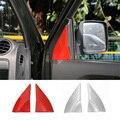 Chegam novas Vermelho Mate ABS Tampa Porta Um Pilar Acessórios Interior Molduras Kits ABS para SUZUKI Jimny