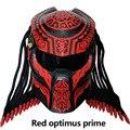 Nuovo Predator in fibra di carbonio del motociclo del casco del fronte pieno del casco casco da moto di halloween demone casco Frange Trecce Nero