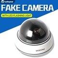 Câmera À Prova de Intempéries de Vigilância Falso manequim Câmera Falso Outdoor Indoor Dome Câmera de Segurança CCTV LED Piscando Luz Vermelha
