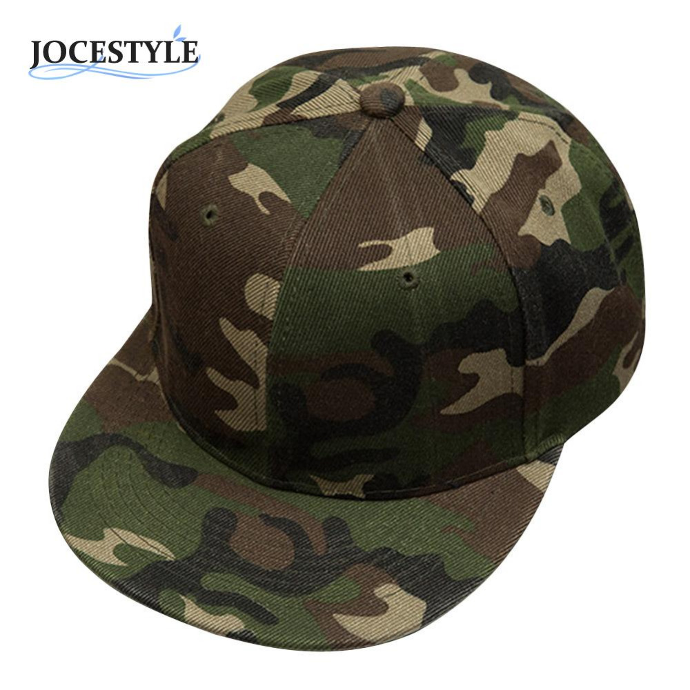 цена на Brand New Camouflage Snapback Adjustable Hats Camo Baseball Caps Hip-Hop Cap Fashion Baseball Backstrap Cap Hat For Men Women