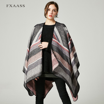 FXAASS New Autumn/Winter Shawl Fashion Poncho Women Scarf for Lady Luxury Blanket Cashmere Scarves Warm Pashmina Wholesale Cape [aetrends] winter poncho vintage lace design women s cape shawl cashmere feel scarfs for ladies z 6547