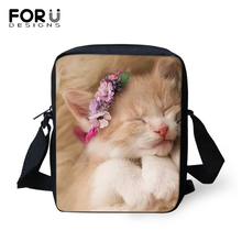 FORUDESIGNS Women Messenger Bag Cute Baby Cats Prints Crossbody for Little Purse Small Phone Coin Bags Handbags