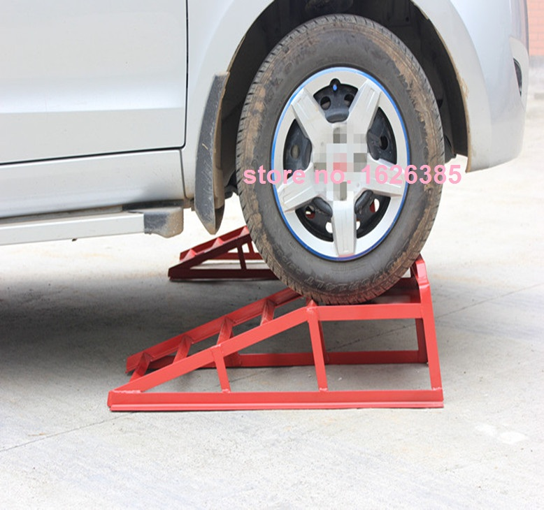 2pcs 1pair Car Support Ramp Change Oil Maintenance Ramp
