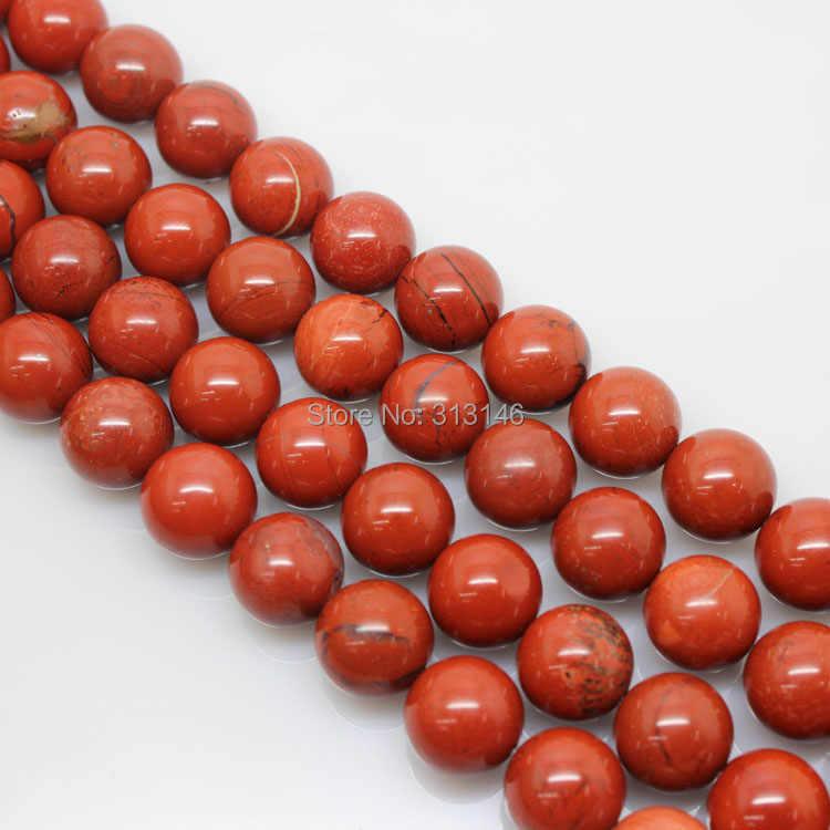 """Bán buôn Tự Nhiên Vòng Red Jasper Loose 15.5 """"sợi Hạt Đá DIY Necklace Bracelet Trang Sức Making Kích Thước 4 6 8 10 12 14 mét"""