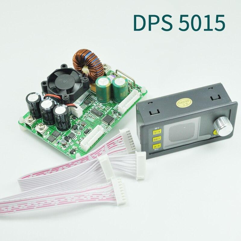 DPS5015 постоянной Напряжение ток Шаг вниз программируемый цифровой Питание Buck Напряжение конвертер Цвет ЖК-дисплей вольтметр 15A
