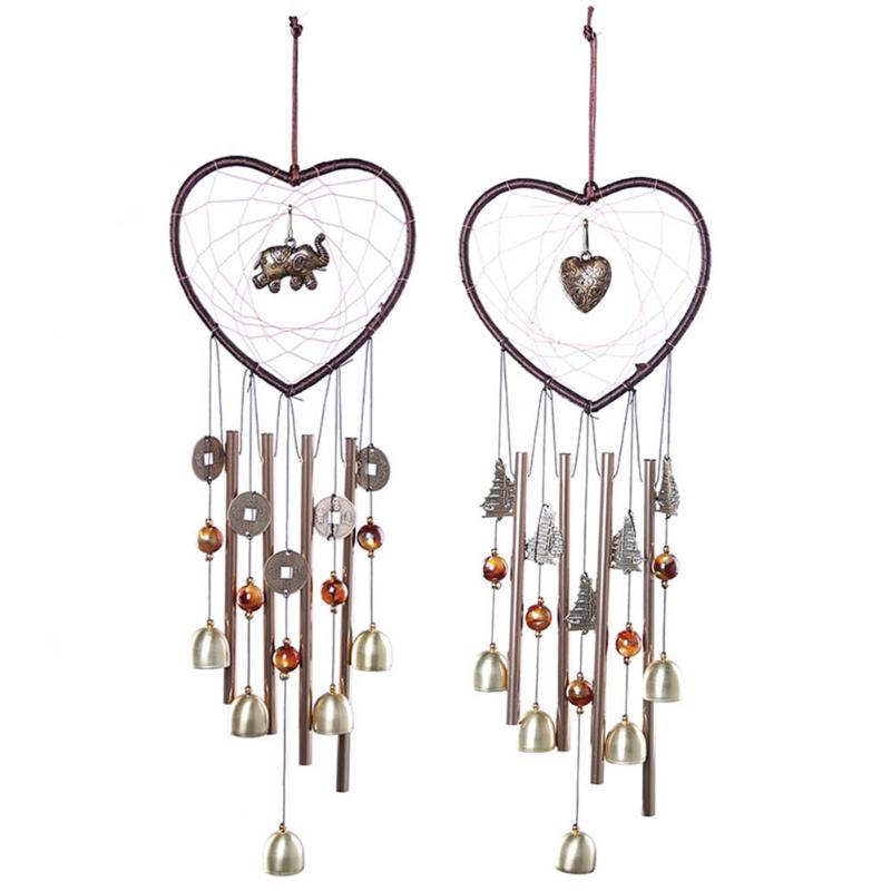 Metal Tube Bell Wind Chimes Living Yard Garden Hanging Windchimes Home Decor Ornaments Dreamcatcher Craft Gifts