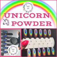 Tessie Shop 2016 HOT SELL HOLOGRAPHIC RAINBOW UNICORN HOLO SILVER PIGMENT MIRROR POWDER BRUSH