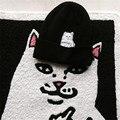 Ripndip Engraçado Caps Chapéu Dos Homens de Inverno Malha Meio Dedo Gato bolso Do Gato Chapéus Skullies Gorros Das Mulheres Sólido Preto Vermelho Quente homem