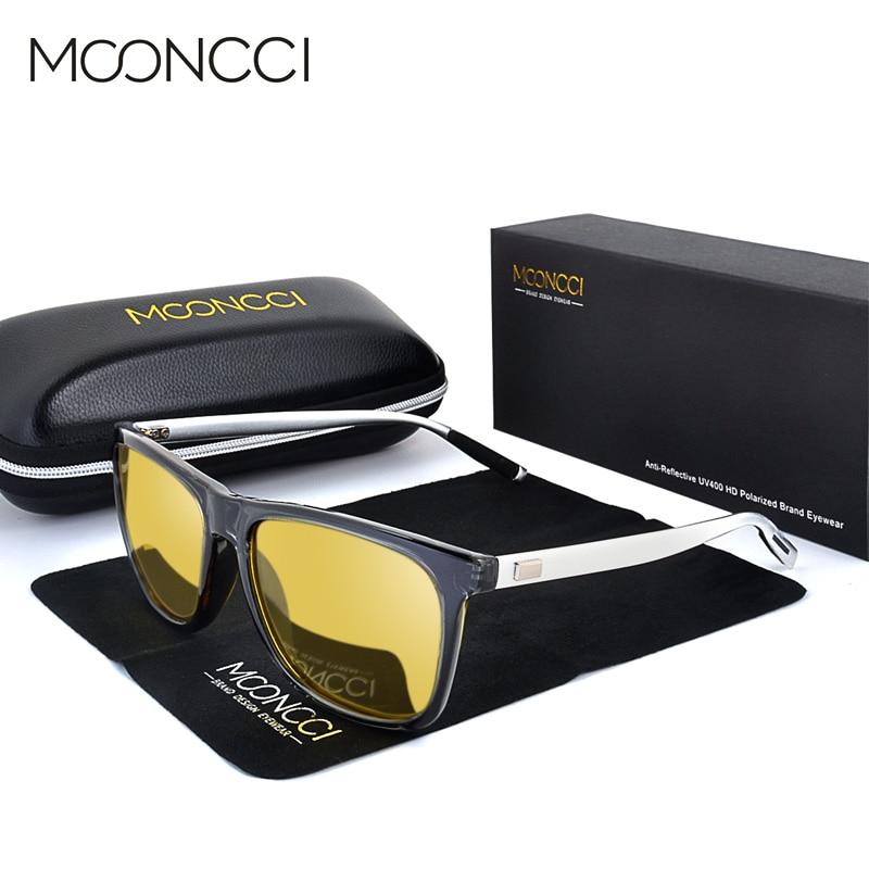 a38ecfcddd Acheter MOONCCI HD Nuit Lunettes de Conduite Des Femmes Polarisées Carré  Nuit Vision Lunettes pour Femmes Vintage Jaune lunettes de Soleil pour  Hommes Dames ...