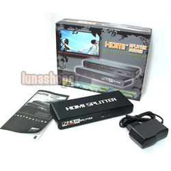 LN000359 HDMI 1.3 1080P Splitter with Amplifier AMP 2 ports