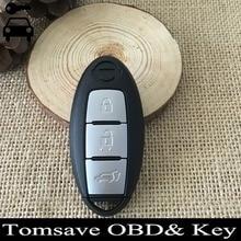 Бесплатная Доставка 3 Кнопки Автомобиль БРЕЛОК Автозапуск Дистанционного Ключа Сигнализации Блокировки 433 МГц Для Нового Nissan Murano X-след