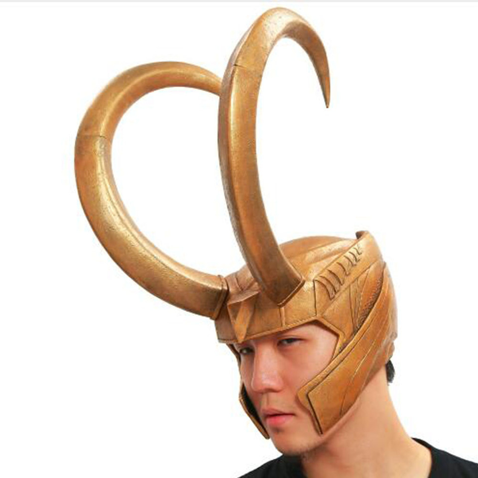 Loki Thor Mask Halloween Cosplay Costume Merchandise Props for Adult Men XCOSER