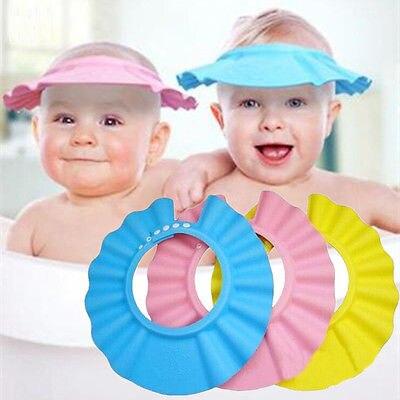 Heißer Verkauf Weich Einstellbar Baby-shampoo Bad Dusche Cap Haarwäsche Für Kinder Kopf Zu Baby Dusche Hut Kind Bade Kappe Bad Visier Babypflege
