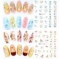 4 Шт. Переноса Воды Ногтей Наклейки Водяной Знак Надписи DIY Украшения Ногтей Инструменты