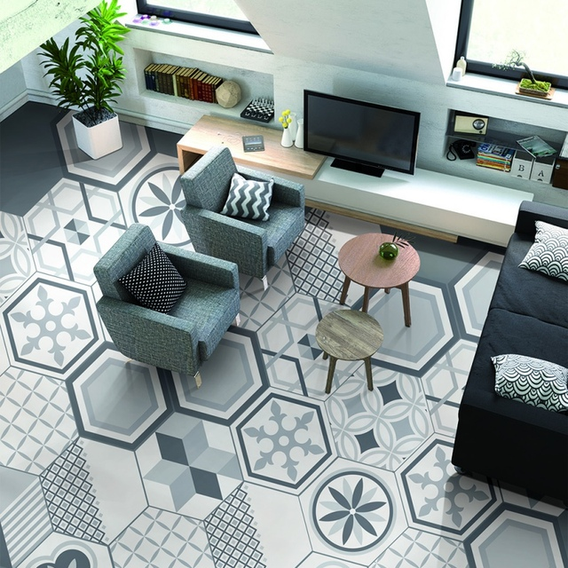 Aliexpress Buy 48PCS Creative Geometric Hexagonal 48D Tile Enchanting Backsplash Tile Stores Creative