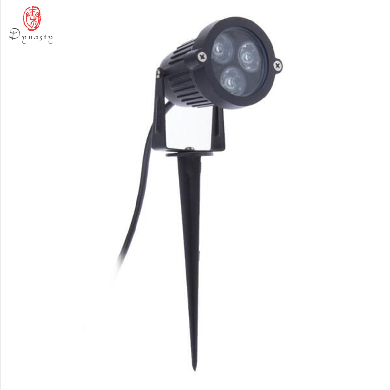 Trawnik Lampy 3 W High Power Ip65 Naświetlacz LED Spot Light 12 V/220 V Ścieżki Ogrodowe Parku Oświetlenie zewnętrzne Krajobraz Dynastii