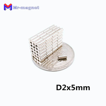 2000pcs 2 x 5mm magnet Bulk Small Round NdFeB Neodymium Disc Magnets Dia.2 N35 Super Powerful Strong Rare Earth Magnet 2*5