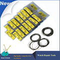 Wholesale 750pcs/set 0.7mm DIA 16mm~30mm Waterproof Watch O-Ring Watch Washer Coil set Gasket seal for watchmaker