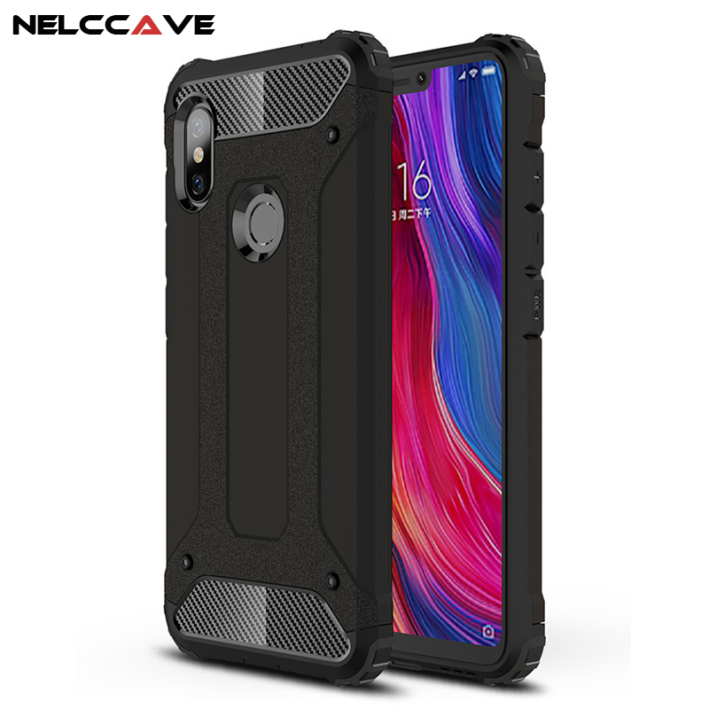 Luxury Rugged Soft Cover For Redmi Note 6 Pro 5 Anti Knock Phone Case Hybrid Hard Tough Dual Layer Armor Shockproof