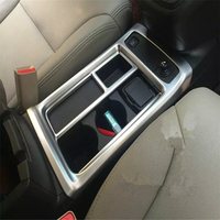 WELKINRY car auto cover styling For Honda CR V CRV 2015 2016 ABS chrome front water cup holder storage box container trim