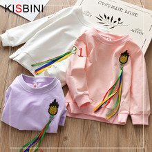 KISBINI New Girls Boys Sweatshirts Autumn 2018 Children Pineapple Hoodies long sleeve Casual Sweater Kids kids T-shirt clothes(China)