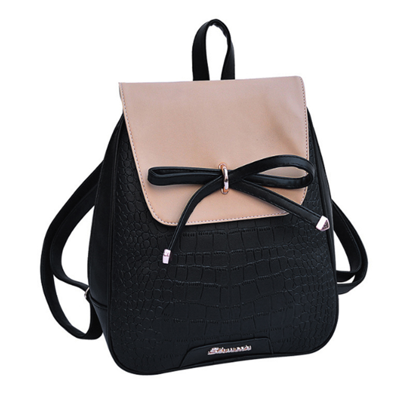 women bag Pu leather Backpack bow stone pattern Backpacks For Teenage Girls Women shoulder bags School Backpack Bolsas feminina women backpack candy color transparent bag lovely ita bag cat ear pu leather backpacks women bags for schoolbags teenage girls