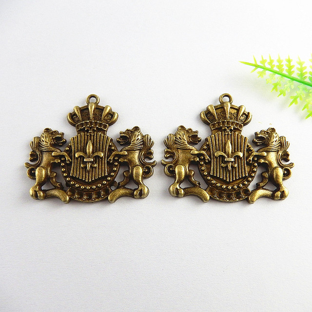 Antique Bronze DIY Charms 5pcs