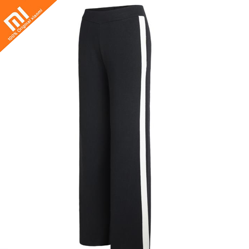 Original xiaomi mijia sports wind striped knit trousers loose sweatpants thick knit pants autumn and winter trousers high qualit ivue clever dog 3g72 black камера видеонаблюдения