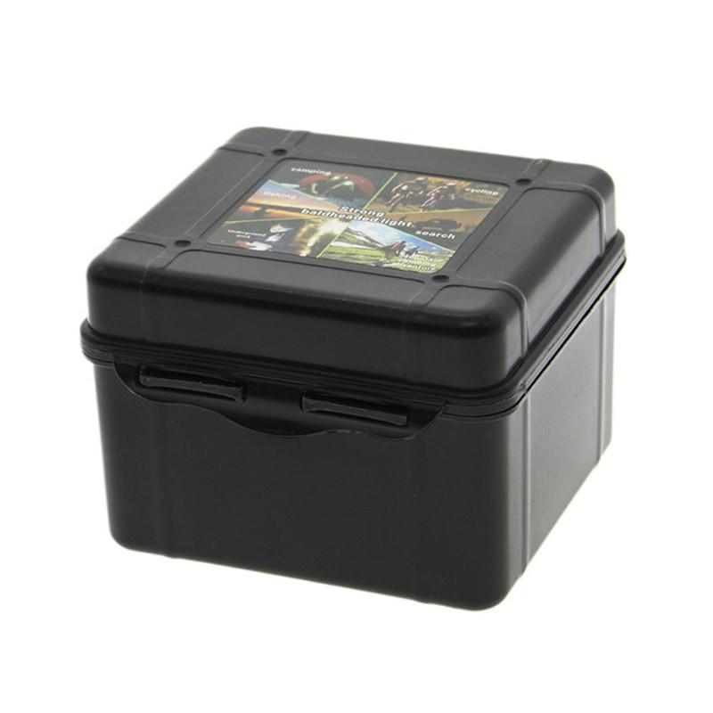 Universal Waterproof Anti Fall Black Plastic Storage Box Flashlight Light Torch Lamp Case Box 20*11*4.5cm lighting accessories