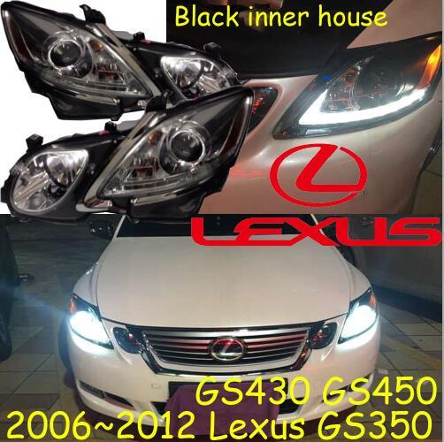 Lexu GS350 headlight,Black,GS350,GS430 GS450,2006~2011,Fit for LHD,Free ship! GS350 fog light,2ps/set+2pcs Aozoom Ballast;GS 350 gs r405 2