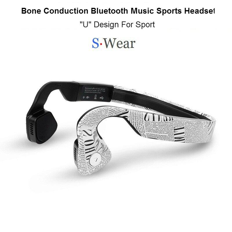 NEW S.Wear Wireless Bluetooth 4.0 Headset Stereo Neck-strap Headphones Bone Conduction Hands-free Sports Driving Smart Earphones wireless bone conduction bluetooth 4 1 headset sports headphones with separate wiring diagram