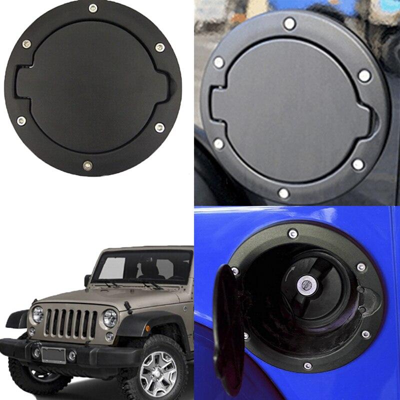 Black Fuel Tank Cap for 4 Door 2 Door Fuel Filler Door Cover Gas Tank Cap