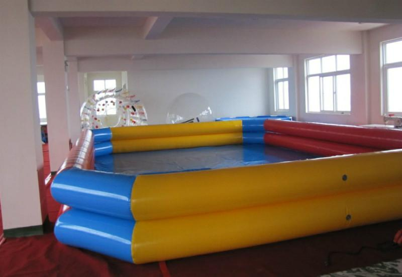 Inflatable pool outdoor large type swimming pool size 8 8 for Best rated inflatable swimming pool