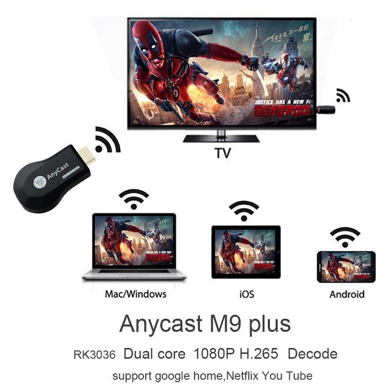 New HFLY Anycast m9 plus wifi tv stick for chrome netflix