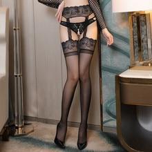 Strmpfe-Set Strumpfbnder Sexy Dessous Mit Hohe Top-Oberschenkel Damen ffnen Gabelung