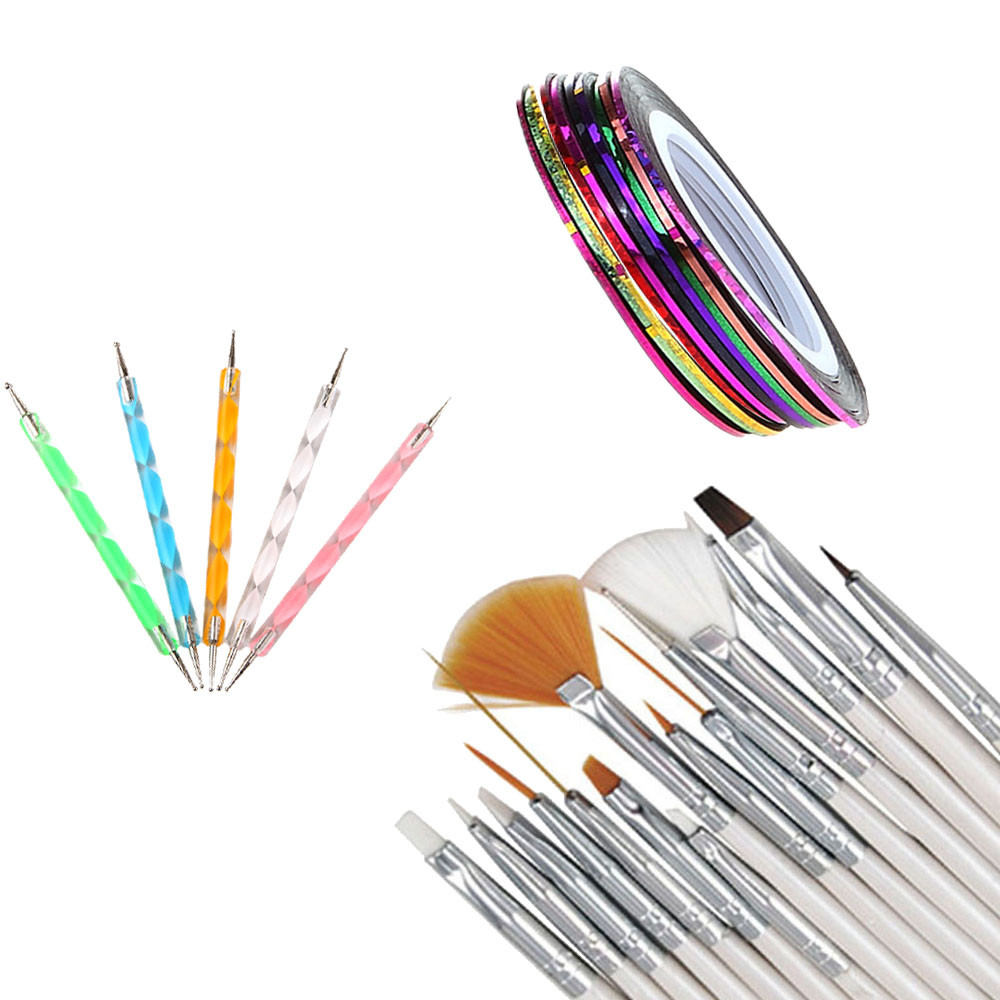 Hot selling 30PCS Nail Art Design Dotting Painting Drawing Polish Brush Pen Tool OutTop Fashion Apr25 Drop Shipping