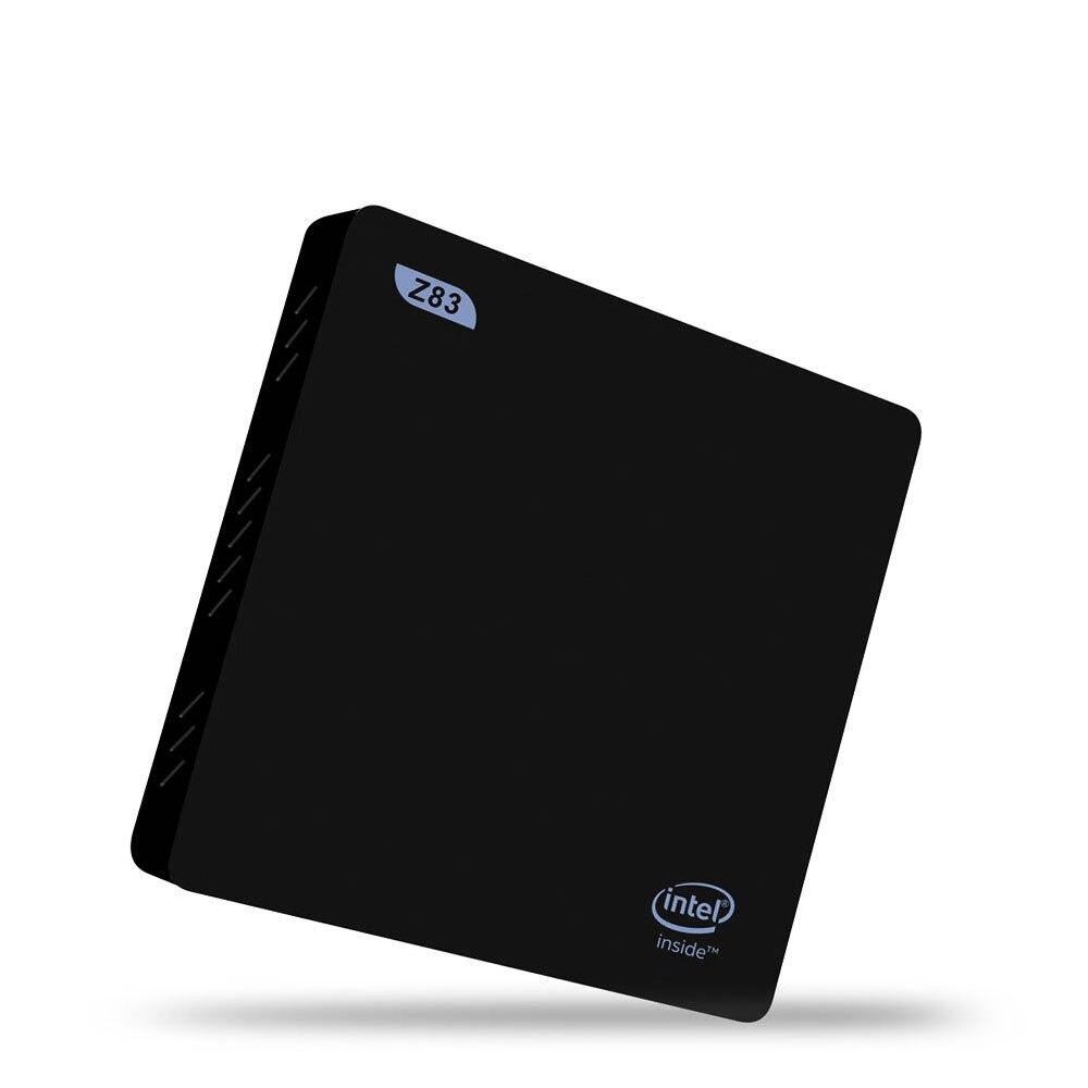 Z83 II Smart Мини-ПК 2 ГБ 32 ГБ ТВ коробка Atom x5-z8350 Quad-Core Bluetooth 4.0 1000 м LAN 2.4 г + 5.8 Г Двойной Wi-Fi windows10 media player